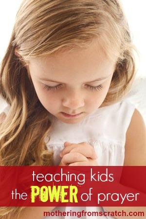 teaching kids how to pray