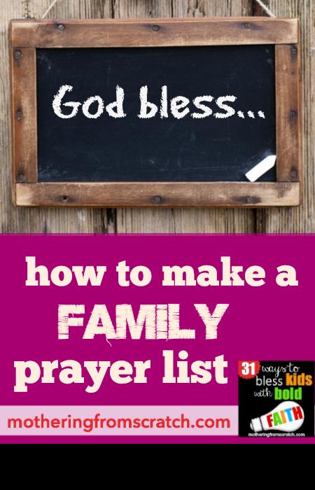 family prayer list